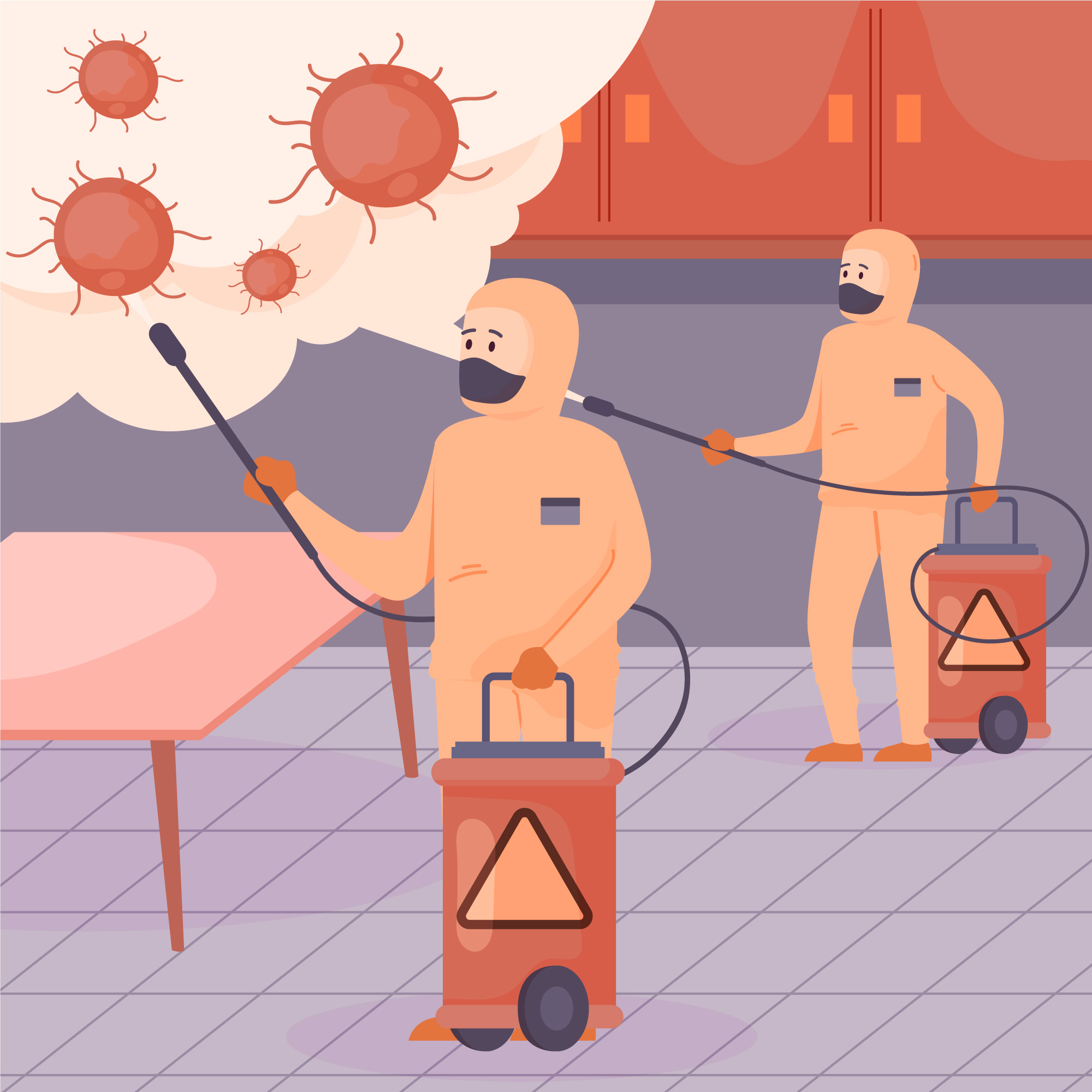 Firefighters and emergency personnels fighting against Coronavirus